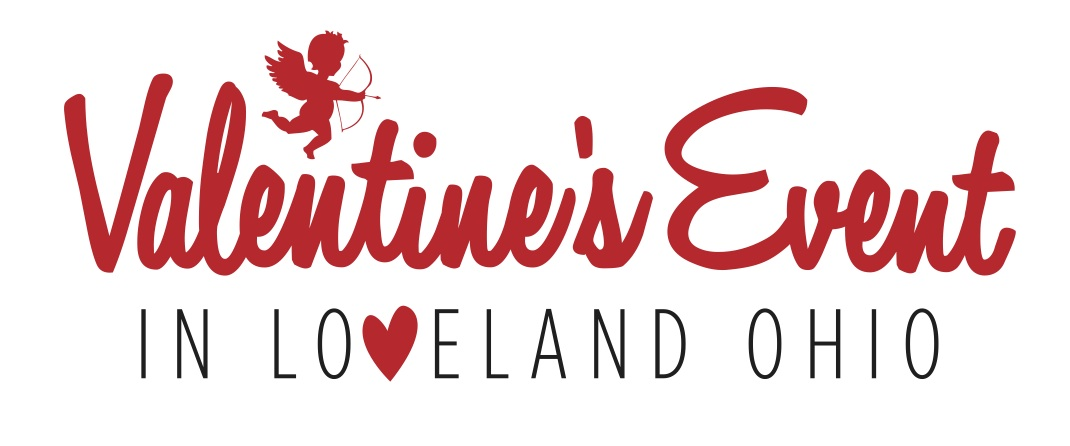 valentines event logo with cupid